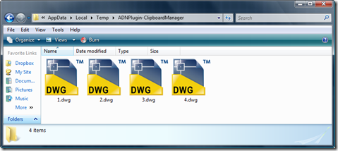 Our corresponding (temporary) DWG files