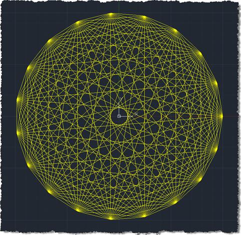 Lines between points