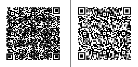 The printed QR Codes