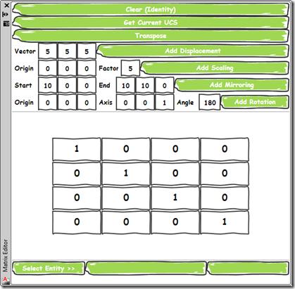 Our custom matrix editor palette