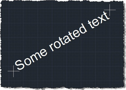 Standard bounds of rotated text