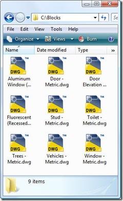Exported blocks as separate DWG files
