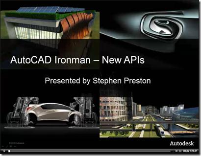 AutoCAD 2012 - New APIs