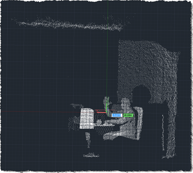 Dynamic preview of Kinect-generated points