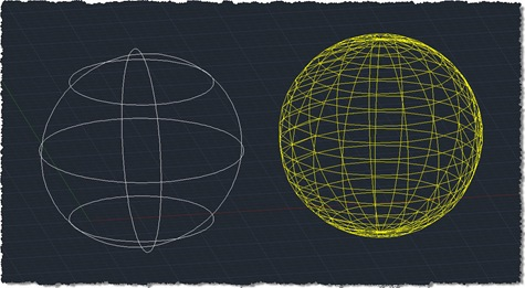 Meshed version of a sphere
