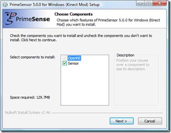 Installing KinectSensor