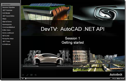AutoCAD .NET DevTV - Session 1