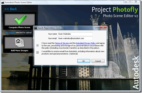 Photo Scene Editor v2 - Quick Registration on first upload