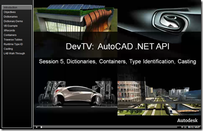 AutoCAD .NET DevTV - Session 5