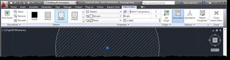 Hatch editor contextual tab