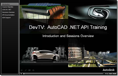 AutoCAD .NET DevTV - Introduction