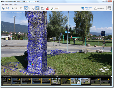 Photo Scene Editor v2 - meshed scene