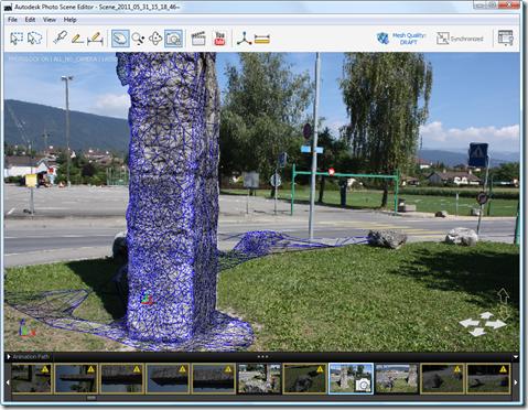 Photo Scene Editor v2 - meshed scene