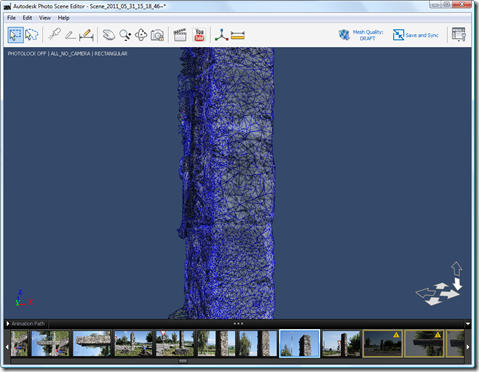 Photo Scene Editor v2 - after deleting a few erroneous points but still no manual stitching