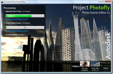 Photo Scene Editor v2 - waiting for the upload to complete