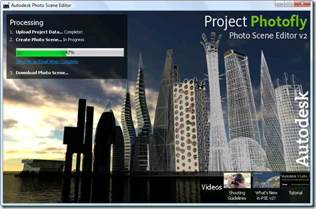 Photo Scene Editor v2 - waiting for the processing to complete