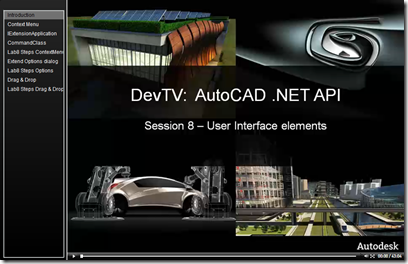 AutoCAD .NET DevTV - Session 8