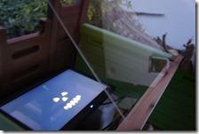 The screen and Plexiglas
