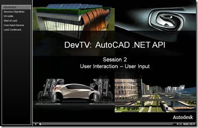 AutoCAD .NET DevTV - Session 2