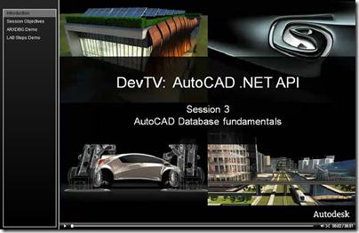 AutoCAD .NET DevTV - Session 3