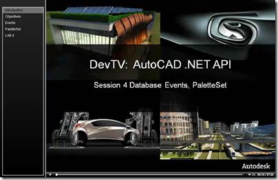 AutoCAD .NET DevTV - Session 4