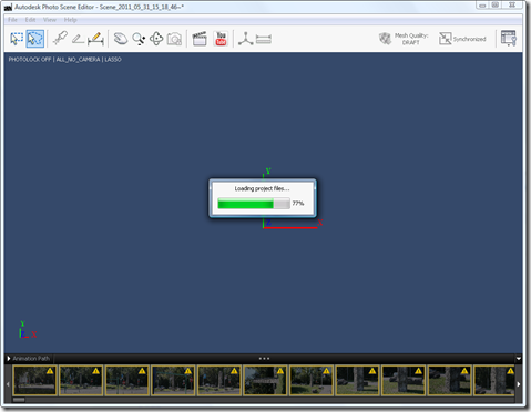 Photo Scene Editor v2 - loading the project file