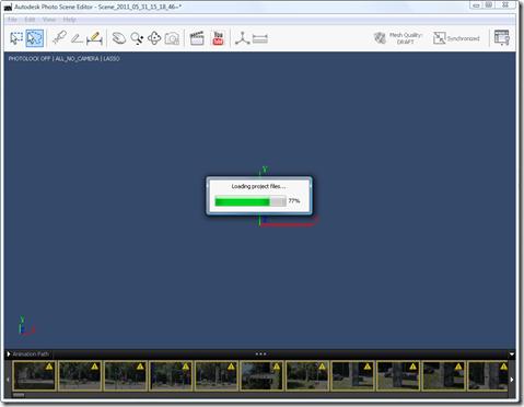 Photo Scene Editor v2 - loading the project file