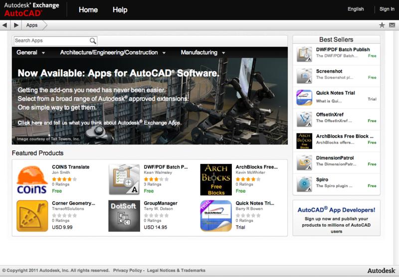 Companion apps for AutoCAD 2012