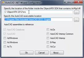 AutoCAD .NET Wizard configuration