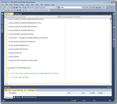 The code in VS2010