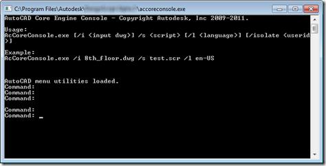 AutoCAD 2013 Core Console