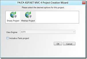 Choosing a Web API project