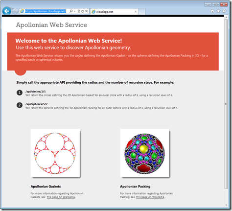 Our web-page describing the available web-services