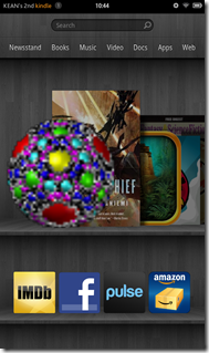 Our app on the Kindle carrousel