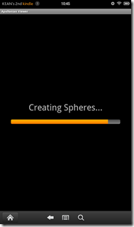 Second progress bar while creating spheres