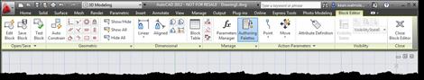 Block editor contextual ribbon tab