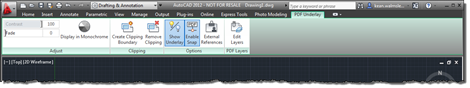 PDF underlay contextual ribbon tab