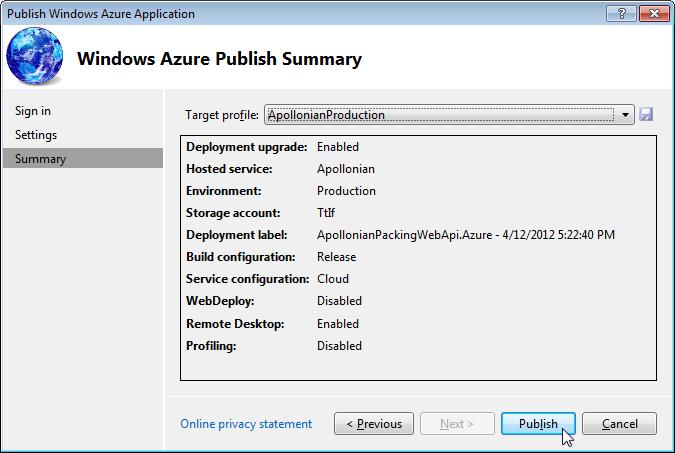 Hosting our ASP NET Web API project on Windows Azure Part 2