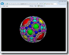 Apollonian Viewer web-page in IE9 on Windows 7