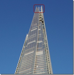 The tip of the Shard