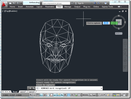 Face tracking inside AutoCAD