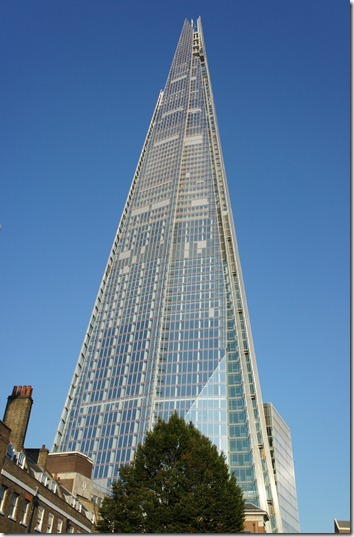 The Shard from below