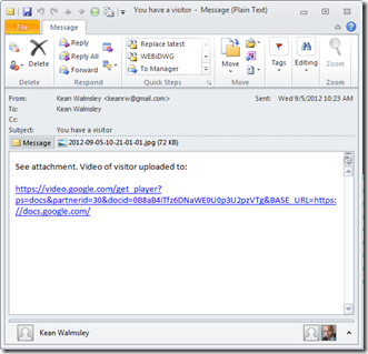 Email on motion detection - with attachment
