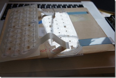 The old and new keyboard membranes