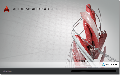 AutoCAD 2014 splash screen