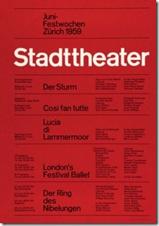 Swiss typographic poster