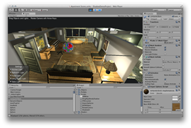 Apollonian packing inside a Unity3D scene