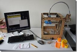 A 3D print in progress