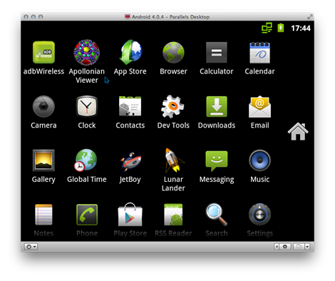 Applications inside Android includes the Apollonian Viewer