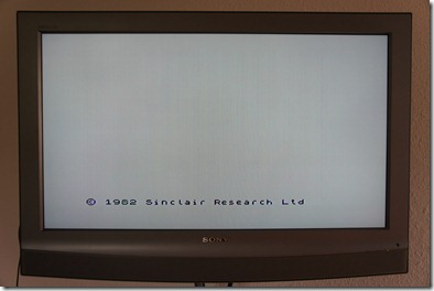 The initial screen - zero boot time!
